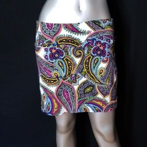 🌹3/$24🌹NWOT BODY CENTRAL PAISLEY STRETCH MINI